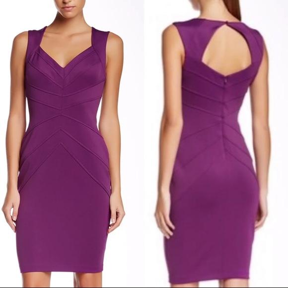 Jessica Simpson purple chevron scuba dress 14